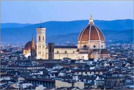 Premium poster Florence Cathedral in the evening