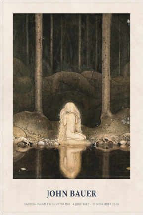 Canvas print  John Bauer - Princess Tuvstarr gazing down - Museum Art Edition