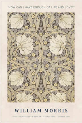 Canvas print  William Morris - Life and love - Museum Art Edition