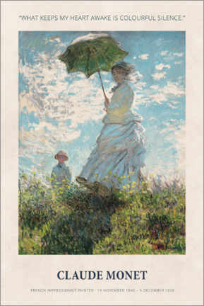 Premium poster Claude Monet - Colourful silence