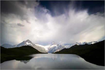 Premium poster  Clouds over Bachalpsee - Roberto Sysa Moiola