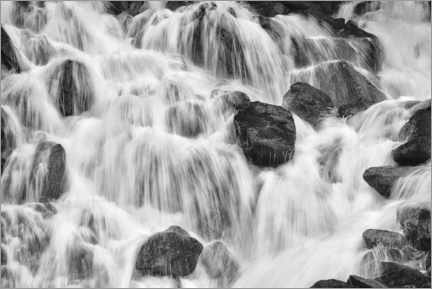 Premium poster Detail of a waterfall, Canada