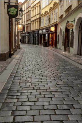 Wall sticker  Cobblestone streets in the old town of Prague - Chuck Haney