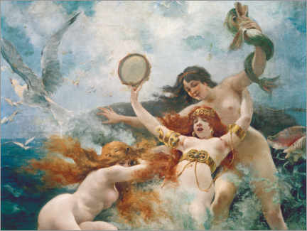 Wall sticker  The sirens are enjoying themselves - Adolphe la Lyre