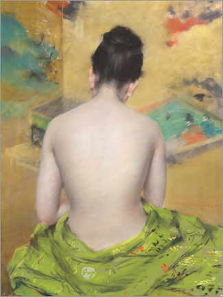 Canvas print  Study of Flesh Color and Gold - William Merritt Chase