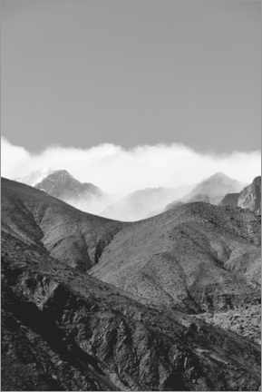 Premium poster Clouds in the Atlas Mountains