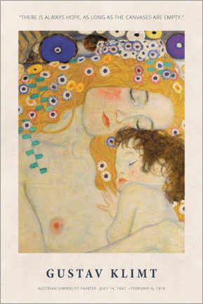 Premium poster  Gustav Klimt - There is always hope - Museum Art Edition