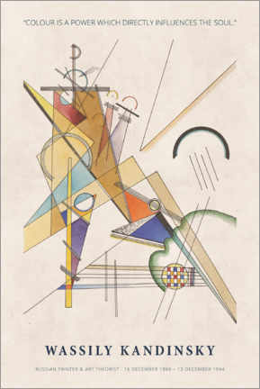 Wood print  Wassily Kandinsky - Colour is a power - Museum Art Edition
