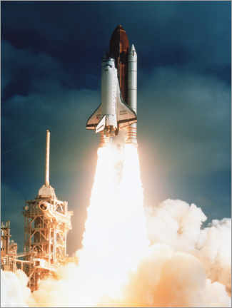 Gallery print  Launch of shuttle STS-31, carrying space telescope - NASA