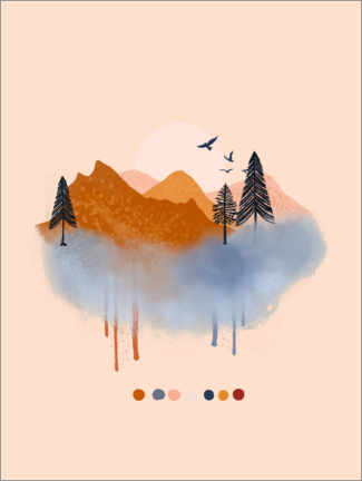 Wall sticker Abstract landscape