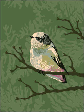 Gallery print  Bird in the summer forest - Verbrugge Watercolor