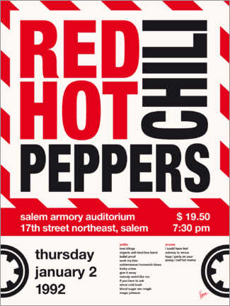 Premium poster Red Hot Chili Peppers Concert Poster