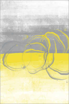 Canvas print  Lemons yellow-gray - Melanie Viola