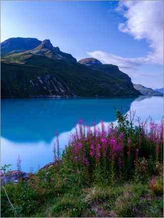 Premium poster  View at Lac do Moiry, Switzerland - Peter Wey