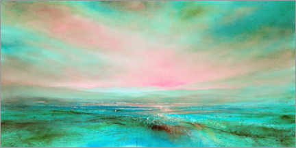 Premium poster The light, pink and turquoise