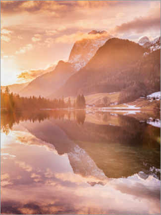 Canvas print  Magic forest on the Hintersee - Fotomagie