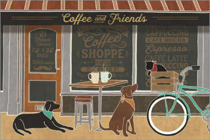 Canvas print  Coffee and friends - Veronique Charron