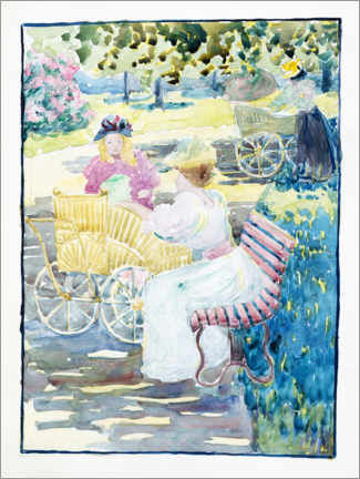 Gallery print  Mothers and children in the park - Maurice Brazil Prendergast