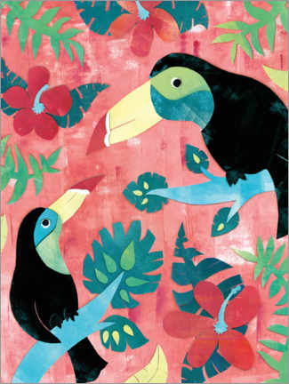 Premium poster Two toucans