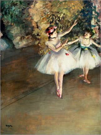 Premium poster  Two dancers on the stage - Edgar Degas