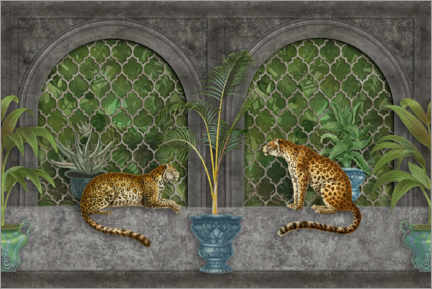 Premium poster  Cheetahs in the jungle palace - Andrea Haase
