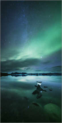 Canvas print  Aurora and milky way, Iceland - Matteo Colombo