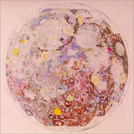 Premium poster  Geological map of the moon