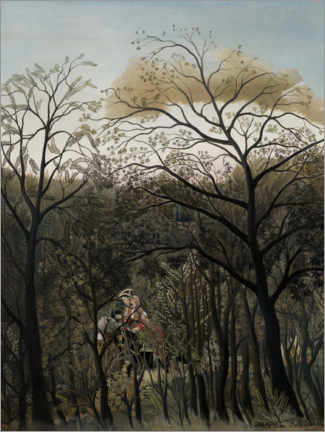 Canvas print  Rendezvous in the forest - Henri Rousseau