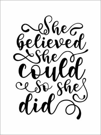 Canvas print  She Believed She Could So She Did - TAlex