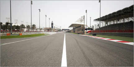 Acrylic print  Out of the pit lane into turn 1