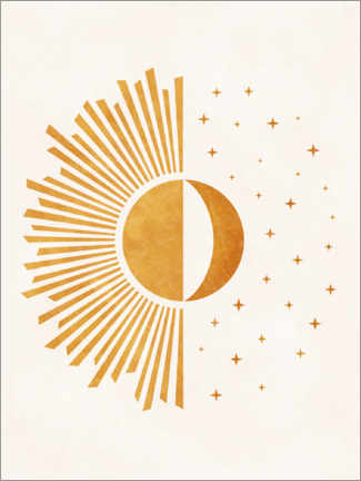 Canvas print  Boho Sun and Moon - Day and Night - TAlex