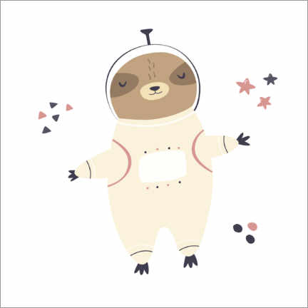 Premium poster  Sloth in space - Kidz Collection