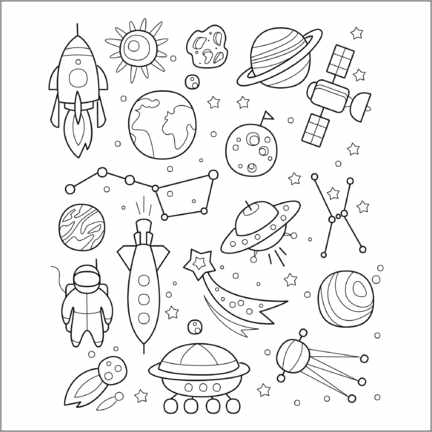 Colouring poster  Space for coloring - Kidz Collection