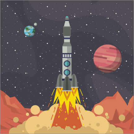 Premium poster  Rocket launch from space - Kidz Collection