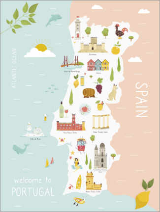 Premium poster  Welcome to Portugal