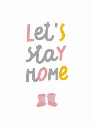 Wall sticker  Let's stay home