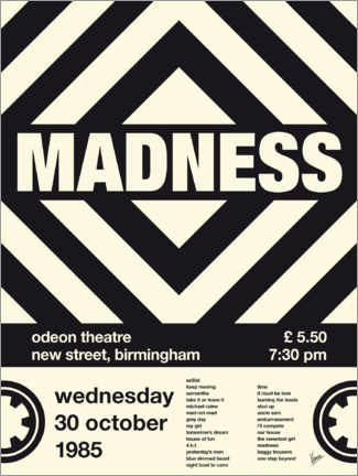 Premium poster Madness Concert Poster