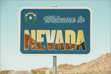 Acrylic print  American West - Welcome to Nevada - Philippe HUGONNARD