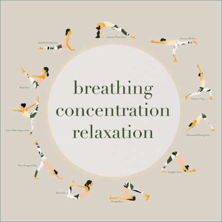 Premium poster  Yoga - breathing concentration relaxation