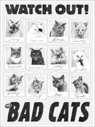 Premium poster Watch out for bad cats