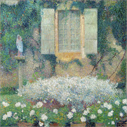 Wood print  Window of the kitchen on the garden at Marquayrol - Henri Martin