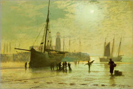 Gallery print  The Lighthouse at Scarborough - John Atkinson Grimshaw