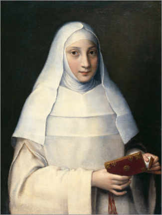 Acrylic print  Portrait of the artist's sister in the garb of a nun - Sofonisba Anguissola