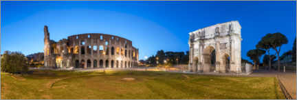Acrylic print  Colosseum and Arch of Constantine in Rome - Jan Christopher Becke