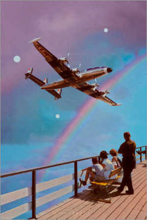 Acrylic print  Look Mummy, there's an aeroplane up in the sky - spacerocket