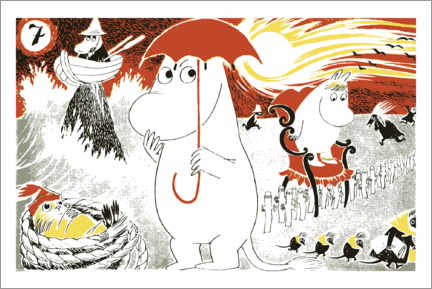Canvas print  Adventures of the Moomins