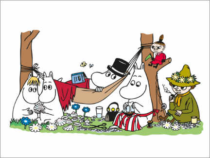 Canvas print  The Moomins - family ties