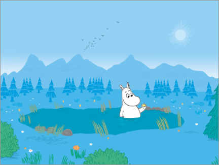 Wall sticker  Moomin and the Wishing Star