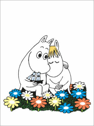 Canvas print  Moomin and Snorkmaiden