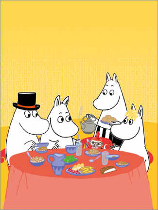 Premium poster  Moomins at the table